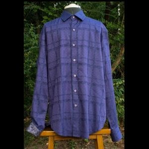 Robert Graham Purple Button Front Shirt